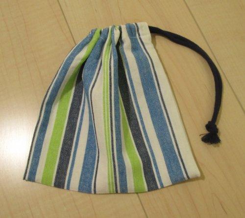 片引き巾着・横19.5×縦20サイズ【先染...