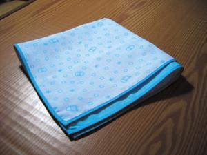 ガーゼハンカチpecori水色ゆき32×32