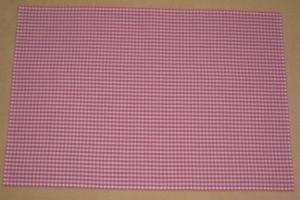 濃いピンク4mmギンガムチェック ランチョンマット大きめ40×60