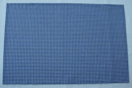 給食用綿ランチョンマット60×40【紺のギンガムチェック3.5mm】