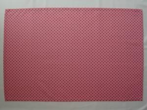 給食用ランチョンマット60×40【ピンクに赤のドット柄】