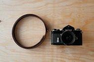 栃木レザーのカメラ用の革のストラップ