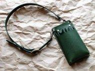 緑の4丁差しのシザーケース 001