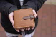 マネークリップのついた二つ折り財布