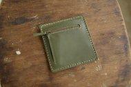 緑の薄い財布