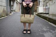 抹茶色のトートバッグです。