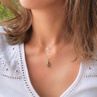 <img class='new_mark_img1' src='https://img.shop-pro.jp/img/new/icons57.gif' style='border:none;display:inline;margin:0px;padding:0px;width:auto;' />Copper amazonite Necklace コッパーアマゾナイト  14kgfネックレス
