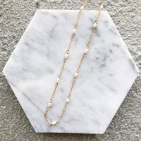 <img class='new_mark_img1' src='https://img.shop-pro.jp/img/new/icons14.gif' style='border:none;display:inline;margin:0px;padding:0px;width:auto;' />Fresh water pearl  14kgf Chain  Necklace 淡水パール 14kgfチェーンネックレス