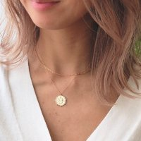 <img class='new_mark_img1' src='https://img.shop-pro.jp/img/new/icons14.gif' style='border:none;display:inline;margin:0px;padding:0px;width:auto;' />Greek coin 14kgf Layered  Necklace コインチャーム 14kgf ボックスチェーンレイヤードネックレス