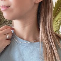 <img class='new_mark_img1' src='https://img.shop-pro.jp/img/new/icons14.gif' style='border:none;display:inline;margin:0px;padding:0px;width:auto;' />Silver925 Paperclip Necklace  ペーパークリップネックレス silver925