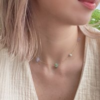 <img class='new_mark_img1' src='https://img.shop-pro.jp/img/new/icons14.gif' style='border:none;display:inline;margin:0px;padding:0px;width:auto;' />Mix Stone 14kgf Necklace ミックスストーン 14kgfネックレス
