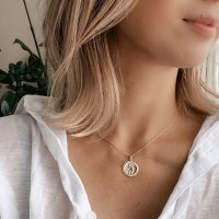 <img class='new_mark_img1' src='https://img.shop-pro.jp/img/new/icons14.gif' style='border:none;display:inline;margin:0px;padding:0px;width:auto;' /> 14kgf St.Christopher Medallion Coin Necklace  メダイ コインチャーム ネックレス