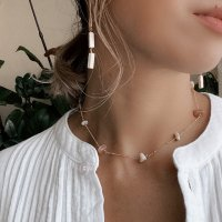 <img class='new_mark_img1' src='https://img.shop-pro.jp/img/new/icons14.gif' style='border:none;display:inline;margin:0px;padding:0px;width:auto;' />Mix Stone 14kgf Necklace ミックスストーン ベージュ 14kgfネックレス