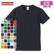 《レディース》5.6oz ハイクオリティー Tシャツ(United Athle/ユナイテッドアスレ)[5001-03]