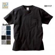 6.2oz オープンエンド マックスウェイト ポケットTシャツ(CROSS&STITCH/クロス&ステッチ)[OE1117]