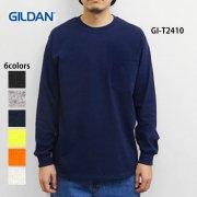 6.0oz ウルトラコットン 長袖ポケットTシャツ(GILDAN/ギルダン)[T2410]