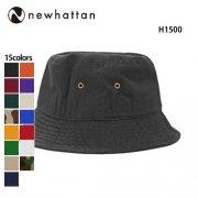 コットン バケットハット(NEWHATTAN/ニューハッタン)[H1500]