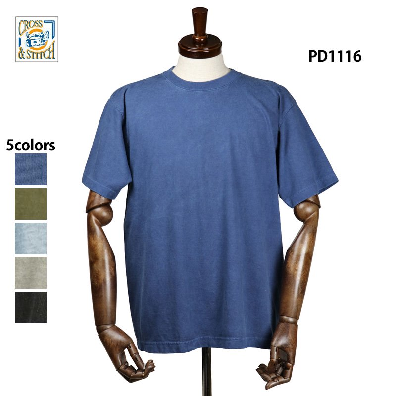 6.2oz オープンエンド マックスウェイト ピグメントTシャツ(CROSS&STITCH/クロス&ステッチ)