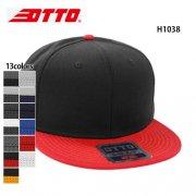 コットン フラットバイザー スナップバックキャップ(OTTO/オットー)H1038