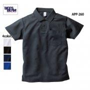 4.3oz ポケット付き アクティブ ポロシャツ(BEES BEAM/ビーズビーム)[APP-260]
