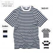 5.6oz ボーダーTシャツ(United Athle urban label/ユナイテッドアスレ)[5625-01]