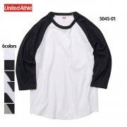 5.6oz ラグラン 3/4スリーブ Tシャツ(United Athle/ユナイテッドアスレ)[5045-01]