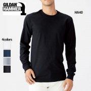 6.1oz ハンマー 長袖Tシャツ(ジャパンフィット)(GILDAN/ギルダン)[HA40]
