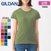 《レディース》5.3oz プレミアムコットンTシャツ(ジャパンフィット)(GILDAN/ギルダン)[76000L]
