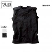 《レディース》5.3oz ウィメンズ 無地ノースリーブ Tシャツ(TRUSS/トラス)[WOS-808]