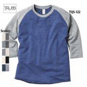 4.4oz トライブレンド ラグラン7分袖Tシャツ(TRUSS/トラス)[TQS-122]
