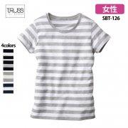 《レディース》4.3oz ウィメンズボーダーTシャツ(TRUSS/トラス)[SBT-126]