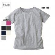3.8oz ソフトスリム 無地Tシャツ(TRUSS/トラス)[RBT-135]