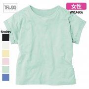 《レディース》3.8oz ウィメンズ ロールアップ 無地Tシャツ(TRUSS/トラス)[WRU-806]