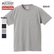 7.1oz オーセンティック スーパーヘヴィーウェイト ポケットTシャツ(オープンエンドヤーン)(United Athle/ユナイテッドアスレ)[4253-01]