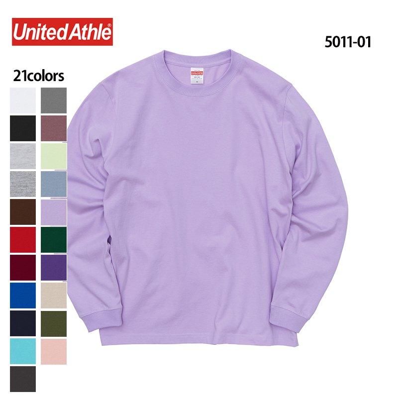 5.6oz ロングスリーブTシャツ(1.6インチ袖リブ付き)(United Athle/ユナイテッドアスレ)