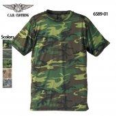 ドライ クールナイス カモフラージュTシャツ(C.A.B.CLOTHING/キャブクロージング)[6589-01]