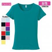 《レディース》6.2oz CVC フライスTシャツ(rucca/ルッカ)[5490-04]
