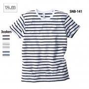 4.3oz ナローボーダーTシャツ(TRUSS/トラス)[SNB-141]