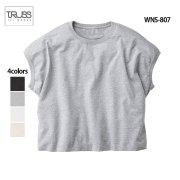 《レディース》4.3oz スリーブレス ワイド 無地Tシャツ(TRUSS/トラス)[WNS-807]