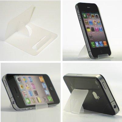 iPhone5・スマートフォン・ギャラクシー TSカードスタンド(スケルトンクリア)