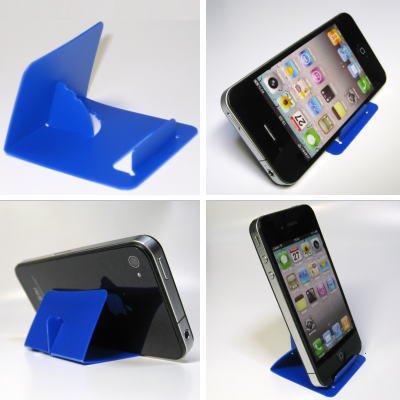 iPhone5・スマートフォン・ギャラクシー TSカードスタンド(ブルー)