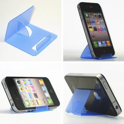 iPhone5・スマートフォン・ギャラクシー TSカードスタンド(スケルトンブルー)