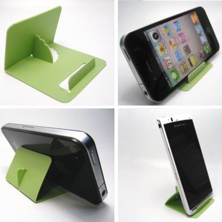 iPhone5・スマートフォン・ギャラクシー TSカードスタンド(パステルグリーン)