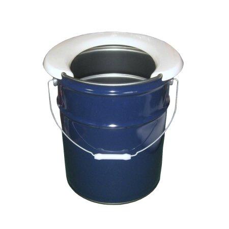 携帯簡易トイレ便座+ネイビーペール缶20Lセット (災害用ペール缶トイレ)