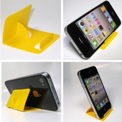 iPhone5・スマートフォン・ギャラクシー TSカードスタンド (イエロー)