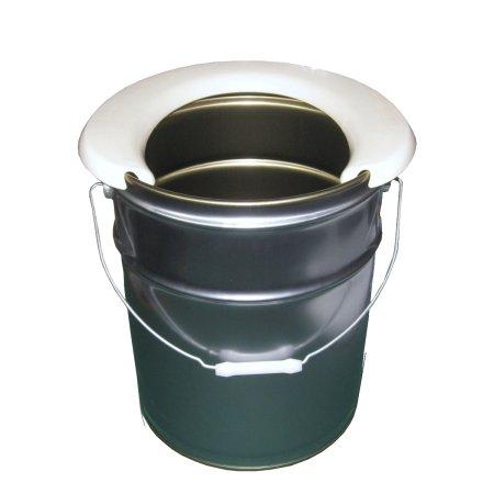 携帯簡易トイレ便座+シルバーペール缶20Lセット (災害用ペール缶トイレ)