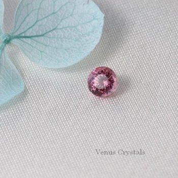 画像よりも少し落ち着いた 綺麗なピンク ナイジェリア産 トルマリン ルース 0.13ct  2.8mm