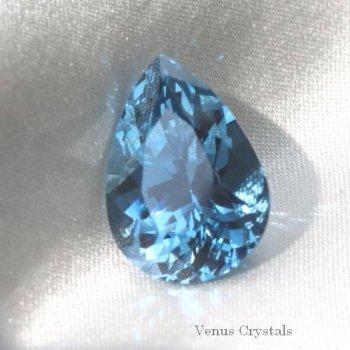 レア 日本製 合成 ブルー・スピネル 大粒ルース 5.66ct  13.0mm