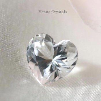 画像よりも綺麗 NY産 ハーキマー・ダイアモンド 可愛いハート ルース  2.32ct  8.6mm
