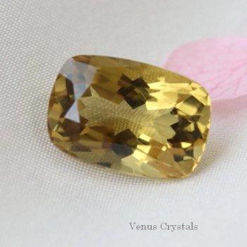 美しいナチュラルゴールドの輝き コンゴ産 非加熱 シトリン 大粒ルース 4.15ct  11.8mm